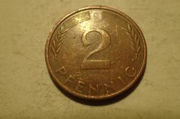 RÉPUBLIQUE FÉDÉRALE ALLEMANDE : 2 PFENNIG 1974 - 2 Pfennig