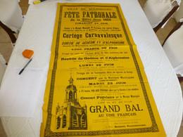 BOURBOURG 24-26 Juin 1928, Rare Affiche Cortège Des Géants, Ref 186 - Plakate