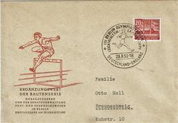BERLIN - T.P. 100 S/L. De BERLIN (Obl. Olympiastadion - Leichtathletik Landerkampf Du 29-8-53) Vers BRAUNSCHWEIG - Covers & Documents