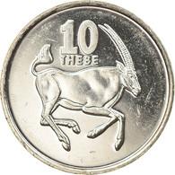 Monnaie, Botswana, 10 Thebe, 2002, British Royal Mint, SPL, Nickel Plated Steel - Botswana