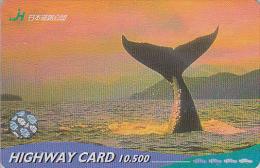 Carte Prépayée JAPON - ANIMAL - QUEUE DE BALEINE  - WHALE JAPAN Prepaid  Card - WAL Karte - HW 349 - Dolphins