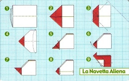 *ITALIA: ORIGAMI VOLANTI - LA NAVETTA ALIENA* - Spezzatura NUOVA (MINT) - Pubbliche Tematiche