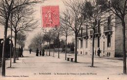 CPA - St NAZAIRE - Boulevard De L'Océan Au Jardin Des Plantes - Edition Delaveau - Saint Nazaire