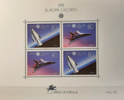 Portugal - 1991 - MNH As Scan - Europe And The Space - Portugal+Azores+Madeira - 1+1+1 Stamps Fom Souvenir Sheets - Unused Stamps