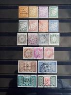MONACO.1925 à 1957. Timbres TAXES N° 17 à 39 . Lot De  Timbres ( 11 Neufs, 8 Oblitérés ). Côte YT 2015 : 27,60 € - Impuesto