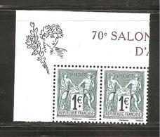 France, P5094, 5094/5095, Paire, Neuf **, TTB, 140 Ans Du Type Sage 1876, 70e Anniversaire Du Salon - Unused Stamps