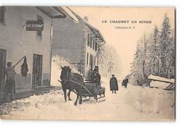 CPA 74 Le Chaumet En Hiver Evires - Otros Municipios