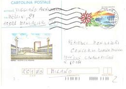 CARTOLINA POSTALE 1990 £650 MOSTRA D'OLTREMARE ANNULLO STIOLANO MT - Entiers Postaux