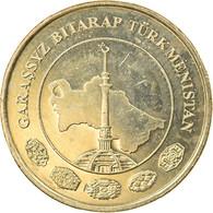 Monnaie, Turkmanistan, 10 Tenge, 2009, TTB+, Laiton, KM:98 - Turkmenistan