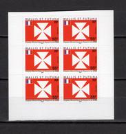 WALLIS ET FUTUNA  N° 657  BLOC DE SIX TIMBRES DE CARNET     NEUF SANS CHARNIERE COTE 10.20€     DRAPEAU - Unused Stamps