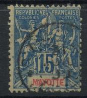 Mayotte (1892) N 6 (o) (dechiré En Bas) - Used Stamps