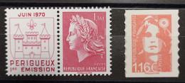 2 Timbres Marianne Livret 50 Ans Imprimerie Timbres-poste - Unused Stamps