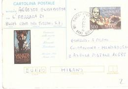 CARTOLINA POSTALE 1983 £300 RICCARDO ZANDONAI - Stamped Stationery
