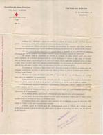 SUISSE. Document Ancien(date Illisible) Ass. Des Dames De France. Croix Rouge Française. Comité De LAUSANNE - Verzamelingen
