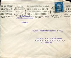 60877 Germany Reich,circuled Cover 1927 Dusseldorf Und Seine Deutsche Kunst Oktober 1928 - Storia Postale