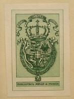 Ex-libris Héraldique Illustré XIXème  - Italie - REALE DI MONZA - Roi D'Italie - Bookplates