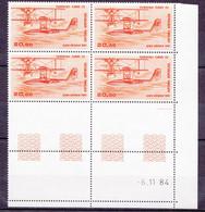 N° 58 Poste Aérienne Hydravion CAMS Bloc Coins Datés 6.11.84 Faire Offre - Airmail