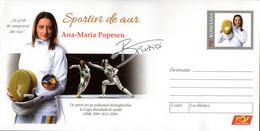 Romania / Postal Stationery / Ana-Maria Popescu (Branza) - Escrime