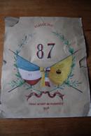 Classe 1907  Tirage Au Sort  Aquarelle  Amitiés Franco Russe - Documenti