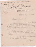 49-J.Dagusé...Fabrique De Cierges, Cirerie....Cholet..(Maine-et-Loire)...1913 - Alimentare