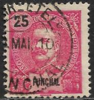 Funchal – 1898 King Carlos 25 Réis Used Stamp - Funchal