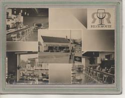 CPSM Dentelée (21) ROUVRAY - Aspect Du Restoroute De La Croisée-Carte Multivues Années 50 / 60- Station Essence Ozo - Otros Municipios