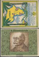Berlin Notgeld: 88.3 Picture 6 Of Bismarck Notgeld Uncirculated 1921 75 Pfennig Berlin German.-Hanseatisch - Andere