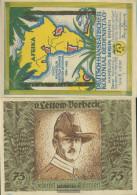 Berlin Notgeld: 88.3 Picture 1 Of Lettow-Vorbeck Notgeld Uncirculated 1921 75 Pfennig Berlin German.-Hanseatisch - Andere