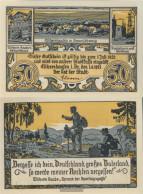 Eschershausen Notgeld: 351.1 50 Pf Notgeldschein The City Eschershausen Uncirculated 1921 50 Pfennig - Andere
