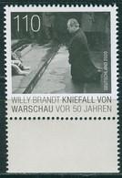 BRD - Mi 3579 - ** Postfrisch (Q) - 110C          Willy Brandt, Ausg.: 3.12.2020 - Unused Stamps