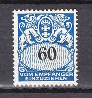 Danzig 1938,1W,Mi Porto 46,Postfrisch Mit Falz(D2787) - Dantzig