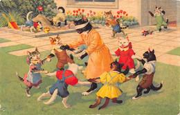 Chats - Chat  - Habillés - Jeux - Enfants -  Colin Maillard - Ecole - Ronde - Dressed Animals