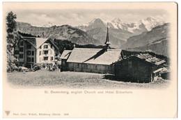 CPA Suisse - St. Beatenberg, English Church Und Hôtel Silberhorn - Dos Simple - BE Berne
