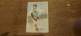 Ancienne Carte Postale - Fantaisie Parisiennes Aquarellées - Serie N 16 Par W. Tip - Femme A Plumage - La Grue - Andere Zeichner