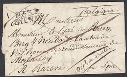 France 1823 - Précurseur P53P STENAY Vers Malmédy /Raeren Par SPA.................. (DD) DC-9626 - 1801-1848: Precursori XIX