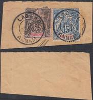 Indochine - Annam- Timbres Obliterés Sur Pièce Papier Alphée Dubois 15 Et 25 Cts De LAO-BAO. ............ (DD) DC-9629 - Usati