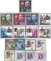 Malta 333-349 (complete Issue) Volume 1966 Completeett Unmounted Mint / Never Hinged 1966 Churchill, Kennedy, ChristmAs - Malta