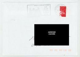 FRANCE - TVP ROUGE LUQUET (II) DE CARNET PIQUAGE À CHEVAL - N° Yvert 3419 SUR LETTRE - Variedades: 2000-09 Cartas
