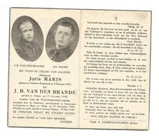 Doodsprentje Oorlogsslachtoffer Berlaar + Terechtgesteld Antwerpen 1943 - Andachtsbilder