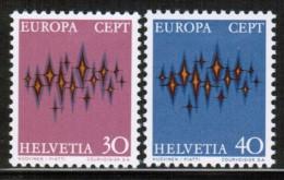 CEPT 1972 CH MI 969-70  SWITZERLAND - 1972