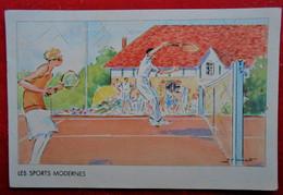CPA 1937- Illustrateur A Pecoud/ Publicité Hémostyl- Hépamoxyl - Les Sports Modernes - Tennis - Non Classificati