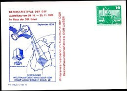 DDR PP16 D2/023b Privat-Postkarte WELTRAUMFORSCHUNG SOJUS-22 Erfurt 1976  NGK 3,00 € - Postales Privados - Nuevos