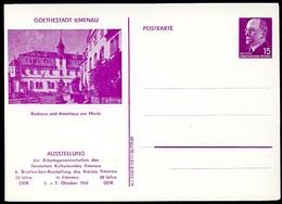 DDR PP10 D2/011a TYP1 Privat-Postkarte MARKT ILMENAU 1969  NGK 10,00 € - Postales Privados - Nuevos