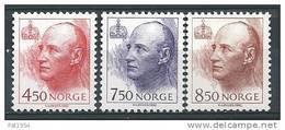 Norvège 1995 N°1154/1156 Neufs** Roi Harald V - Unused Stamps