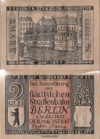 Berlin Notgeld: 92.3 Notgeld Berlin 6. 1877 Berlin Strassenlokomotive Used (III) 1922 2 Mark Berlin Straßenbahngeld - Andere