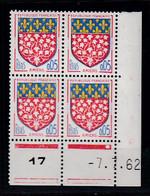 Cd5220 YvT 1352 Blason Amiens 0.05 Coin Daté 07/07/62 N** - 1960-1969