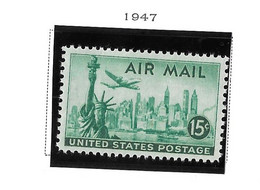 USA=1947  Air Post  Stamps  Statue Of Liberty  Scot# C-35 - Zonder Classificatie