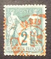 74-1 Sage 2c Rouge Des Imprimés 12/12/76 - 1876-1898 Sage (Type II)
