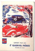 Dépliant Publicitaire  Des Ets Quervel Lubrifiant Automobile Kervoline Pour Le Calcul De La Moyenne & De La Consommation - Reclame