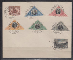 """Ecuador MiNo. 167/73 Auf Blankoumschlag Mit K2 """" Correos Ecuador Quito 1908 """" - Ecuador"""